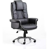 Product photograph showing Havza Bonded Leather Executive Chair In Black With Wheels