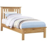 Heaton Wooden Low End Single Bed In Oak