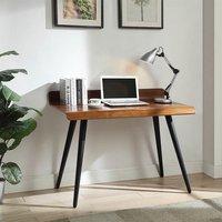 image-Hector Wooden Computer Desk Rectangular In Walnut With Dark Legs