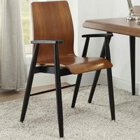 Hector Contemporary Wooden Home Office Chair In Walnut