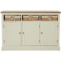 Henrik Wooden Sideboard In Cream With 3 Doors