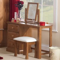 Herndon Wooden 3Pc Dressing Table Set In Lacquered