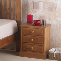 Herndon Wooden Bedside Cabinet In Lacquered