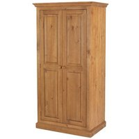 Herndon Wooden Double Door Wardrobe In Lacquered