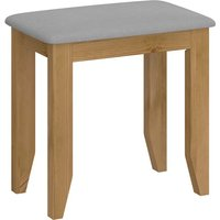 Product photograph showing Heston Wooden Stool In Pine And Grey