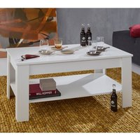 Product photograph showing Hilburn Wooden Coffee Table In Andersen White Pine