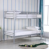 Product photograph showing Himley Metal Bunk Bed In Silver