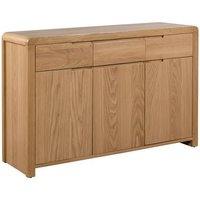 Holborn Wooden Sideboard Rectangular In Oak With 3 Doors
