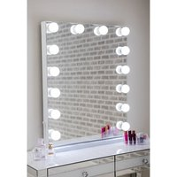 Hollywood Portrait Dressing Mirror With White High Gloss Frame
