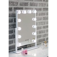 Hollywood Swivel Dressing Mirror With White High Gloss Frame