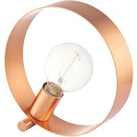 Product photograph showing Hoop Metal Table Lamp In Copper