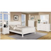 Horizon Wooden 5 Pieces Bedroom Set In White