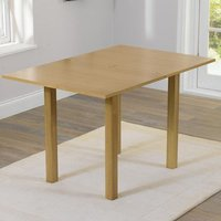Product photograph showing Hove Extending Wooden Dining Table In Oak
