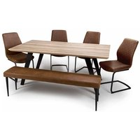 Product photograph showing Hunter Dining Set With 4 Charlie Chairs And Charlie Bench