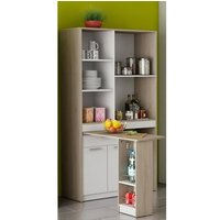 image-Hyttan Kitchen Display Cabinet In Brushed Oak And White