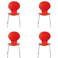 Ibiza Set Of 4 Dining Chairs In Red