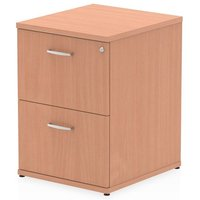 Product photograph showing Impulse Wooden 2 Drawers Filing Cabinet In Beech