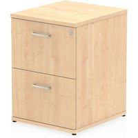 Product photograph showing Impulse Wooden 2 Drawers Filing Cabinet In Maple
