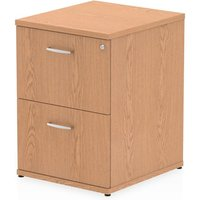 Product photograph showing Impulse Wooden 2 Drawers Filing Cabinet In Oak