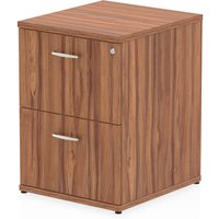 Product photograph showing Impulse Wooden 2 Drawers Filing Cabinet In Walnut