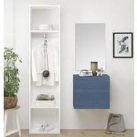 Infra Bathroom Furniture Set In White And Blue