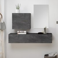 Infra Wooden Bathroom Furniture Set In Oxide And Mirror