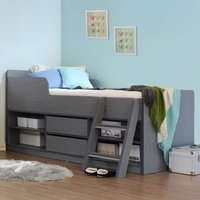 Product photograph showing Intana Wooden Low Sleeper Bunk Bed In Grey