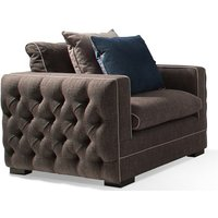 Product photograph showing Ivy Fabric 1 Seater Sofa In Charcoal With Scatter Cushions