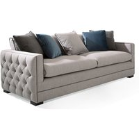 Product photograph showing Ivy Fabric 4 Seater Sofa In Grey With Scatter Cushions