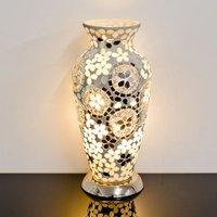 Izar Medium Art Deco Mirror Design Mosaic Glass Vase Table Lamp