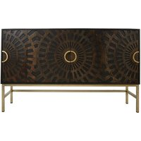 Fawaris Wooden Sideboard In Brown With Spiral Patterns