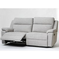 Product photograph showing Jackson Fabric 3 Seater Recliner Sofa In Beige