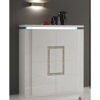 Garde Sideboard In White Gloss With Diamante And LED Lights