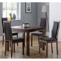 Jakey Extending Dining Table In Walnut With Four Dining Chai