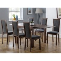 Jakey Extending Dining Table In Walnut With Six Dining