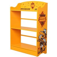 Product photograph showing Jcb Kids Muddy Friends Bookcase In Yellow