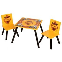 JCB Muddy Kids Square Table With 2 Chairs In Yellow And Black