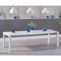 Jensen Extendable Dining Table In White High Gloss