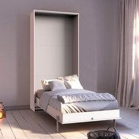 Juist Wooden Vertical Foldaway Single Bed In White