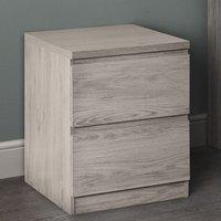 Jupiter Bedside Cabinet In Grey Oak With 2 Drawers