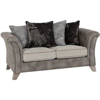 Product photograph showing Kangus Fabric Upholstered 2 Seater Sofa In Silver And Grey