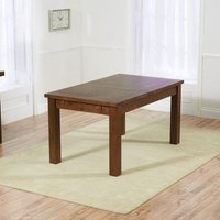 Product photograph showing Kaveh Large Extending Wooden Dining Table In Dark Oak