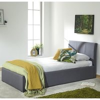 Keanu Fabric Ottoman Storage Single Bed In Grey
