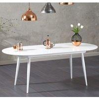 Keid Wooden Extending Dining Table In White High Gloss