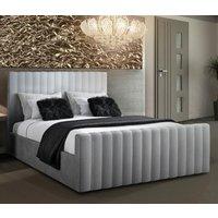 Kelowna Plush Velvet Upholstered Single Bed Silver