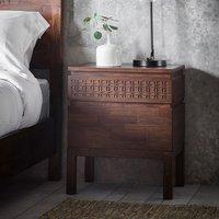 Kelton Retreat Wooden Bedside Cabinet In Mango Wood