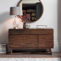 Kelton Retreat Wooden Sideboard In Mango Wood With 3 Doors