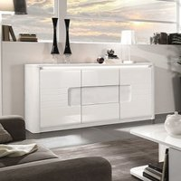 Kemble Small Wooden Sideboard In White High Gloss With LED