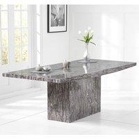 Kempton Large Marble Dining Table Rectangular In Grey