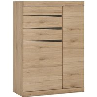 Kenstoga Wooden 2 Doors 3 Drawers Sideboard In Grained Oak
